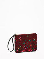 Old Navy Floral-Embroidered Sueded Wristlet for women