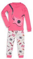 Petit Lem Little Girl's Two-Piece Printed Pajama Set
