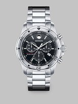 Series 800 Sub Sea Stainless Steel Chronograph Watch/Black Dial