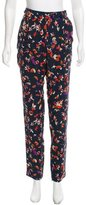 Vanessa Bruno Silk Floral Print Pants