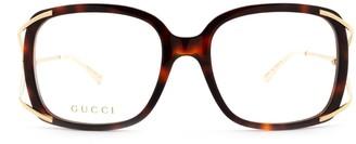 Gucci Gg0648o Havana Glasses