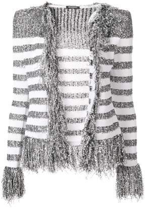 Balmain fringed cardigan