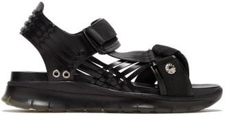 Toga Virilis Chunky Double-strap Leather Sandals - Mens - Black
