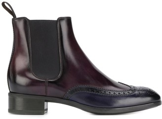 Santoni Contrasting Toe Ankle Boots