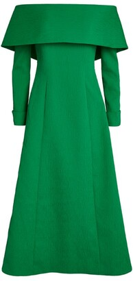 Emilia Wickstead Off-The-Shoulder Carole Dress