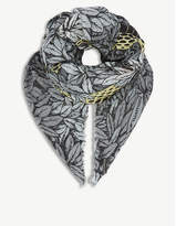 Fornasetti Face-print modal and cashmere scarf