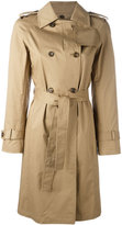 Alberto Biani belted trench coat - women - Cotton/Spandex/Elastane - 40