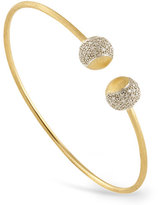 Marco Bicego Tennis 18K Yellow Gold Bangle with Diamond Caps
