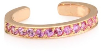Anita Ko Pink Sapphire & 18K Rose Gold Ear Cuff