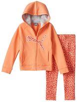 Puma Baby Girl Fleece-Lined Logo Hoodie & Printed Leggings Set