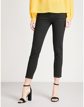 J Brand Ladies Black Skinny High-Rise Jeans, Size: 23