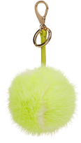 Anya Hindmarch Tennis ball mink-fur bag charm