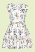 Yumi Girl Floral Butterfly Skater Dress Multi