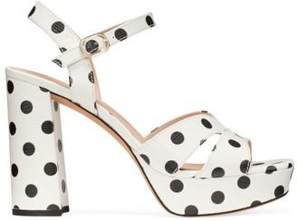 Kate Spade Delight Polka Dot Leather Platform Sandals
