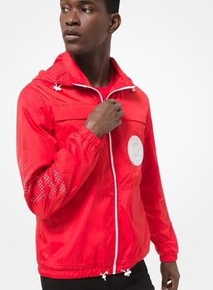 Michael Kors Packable Woven Hooded Jacket