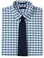 Lands' End Men's Big & Tall Pattern No Iron Supima Oxford-Light Sea Blue Multi Stripe