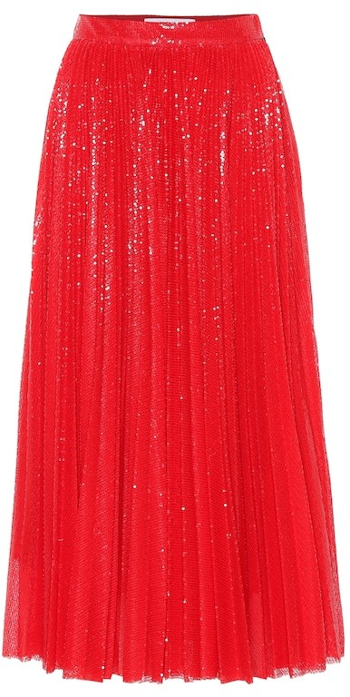 65c834f2b9 Pleated Sequin Skirt - ShopStyle