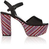 Prada Women's Crystal-Embellished Satin Platform Sandals