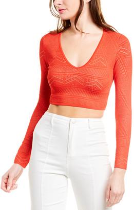 BCBGMAXAZRIA Alexa Crop Sweater