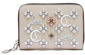 Christian Louboutin Panettone Embellished Leather Wallet - Nude Multi