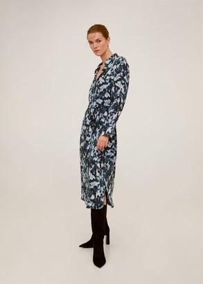 MANGO Abstract-print shirt dress
