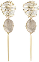 Alexis Bittar Caged Clear Crystal Spike Clip Earrings