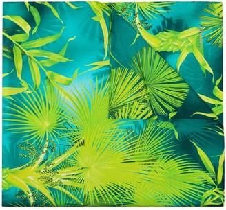 Versace Tropical-Print Silk Scarf