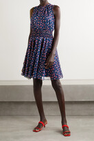 Thumbnail for your product : Jason Wu Collection Shirred Floral-print Chiffon Dress - Blue