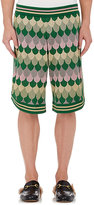 Gucci Men's Wave-Pattern Wool-Blend Track Shorts