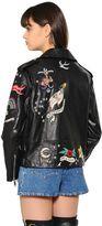Valentino Embellished Washed Nappa Leather Jacket