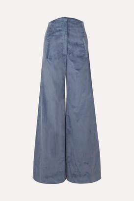 Anna Mason - Bay Cotton-corduroy Wide-leg Pants - Blue