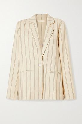 MATIN Pinstriped Linen-blend Blazer - Ecru