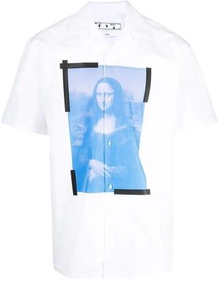 Off-White Blue Mona Lisa Holiday Shirt