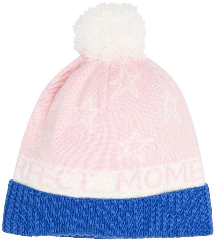 Perfect Moment Pompom Merino Beanie Hat