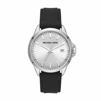 Michael Kors Men's Penn Stainless Steel Quartz Watch with Silicone Strap