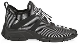 Prada Logo Knit Row Sneakers