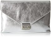 Loeffler Randall Lock (Metallic Leather) Envelope Clutch