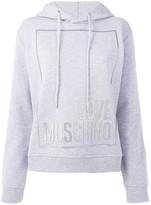 Love Moschino logo print hoodie