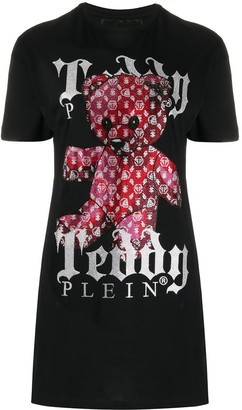 Philipp Plein teddy bear print T-shirt dress