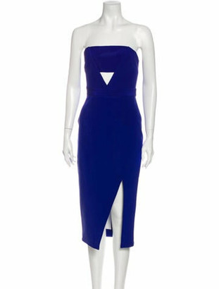 Nicholas Silk Knee-Length Dress Blue