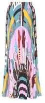 Valentino Pleated silk skirt