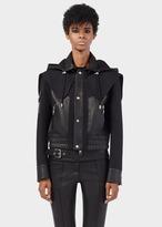Versace Technical Leather Panel Jacket