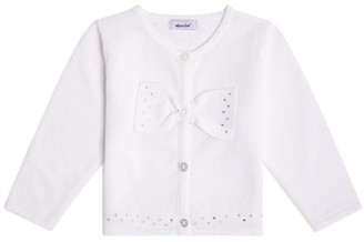Absorba Cotton Bow-Embellished Cardigan