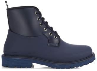Saks Fifth Avenue Rubber Combat Boots