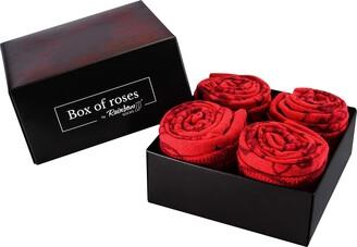 Rainbow Socks - Women Roses Socks Box Gift - 2 Pairs - Size 7 5-11