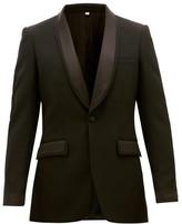 Burberry Shawl-lapel Wool Tuxedo Jacket - Mens - Black