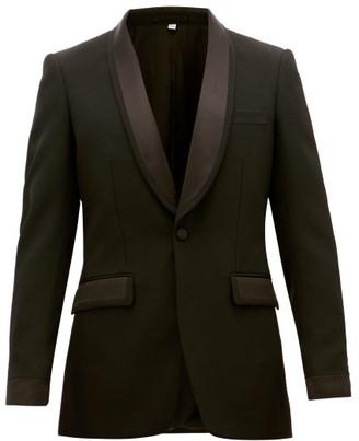 Burberry Shawl-lapel Wool Tuxedo Jacket - Black
