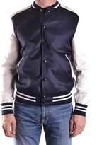 Daniele Alessandrini Men's White/blue Viscose Sweatshirt.