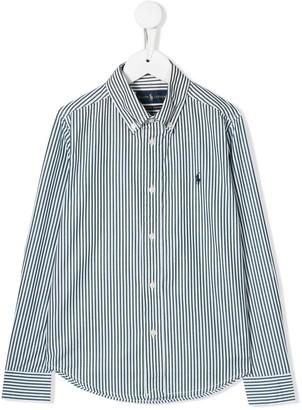 Ralph Lauren Kids logo striped shirt