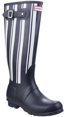 Hunter Garden Stripe Welly Boot
